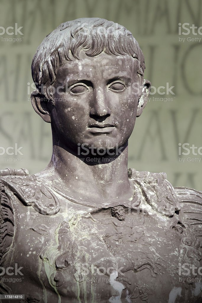 Caesar Octavianus Augustus stock photo