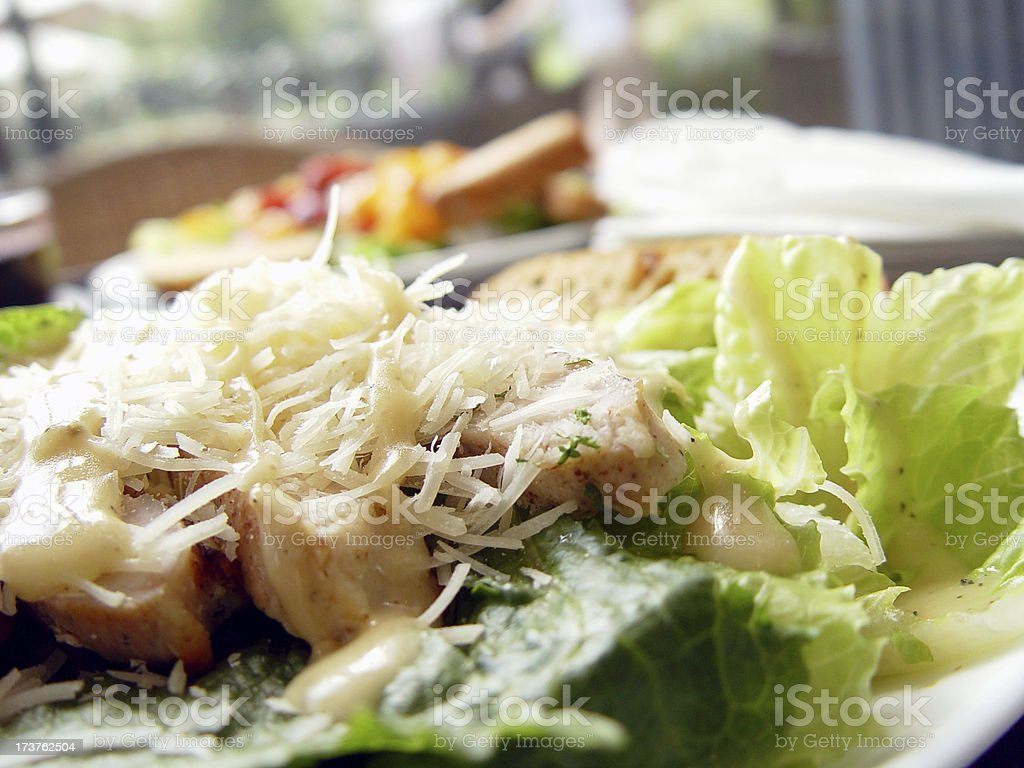Caesar Salad and Croutons royalty-free stock photo