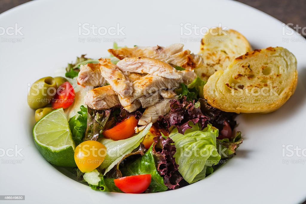 Caesar Salad Close Up view royalty-free stock photo