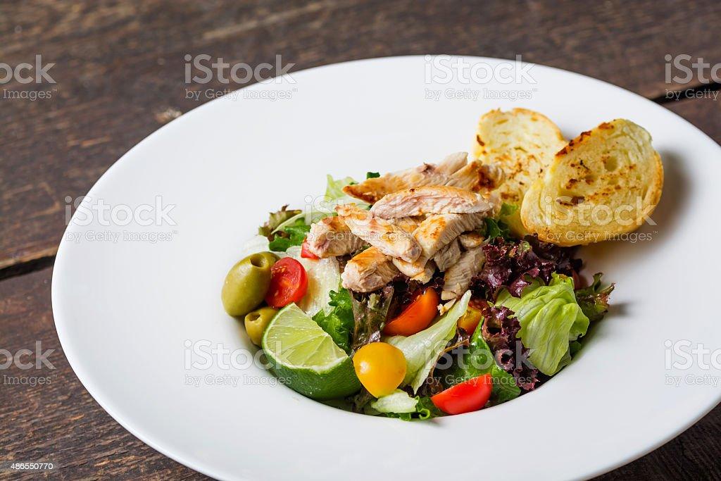 Caesar Salad Gourmet food royalty-free stock photo