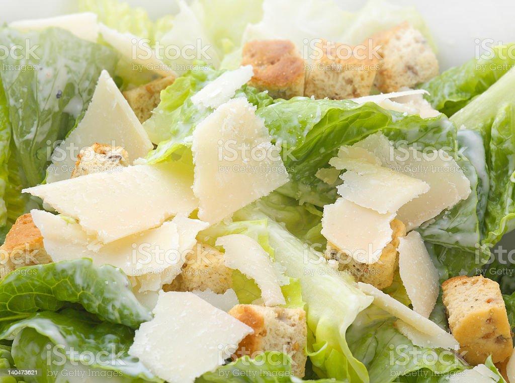 Caesar Salad Macro stock photo