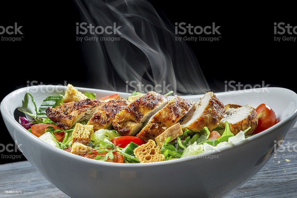 Caesar salad made of fresh vegetables royalty-free stock photo