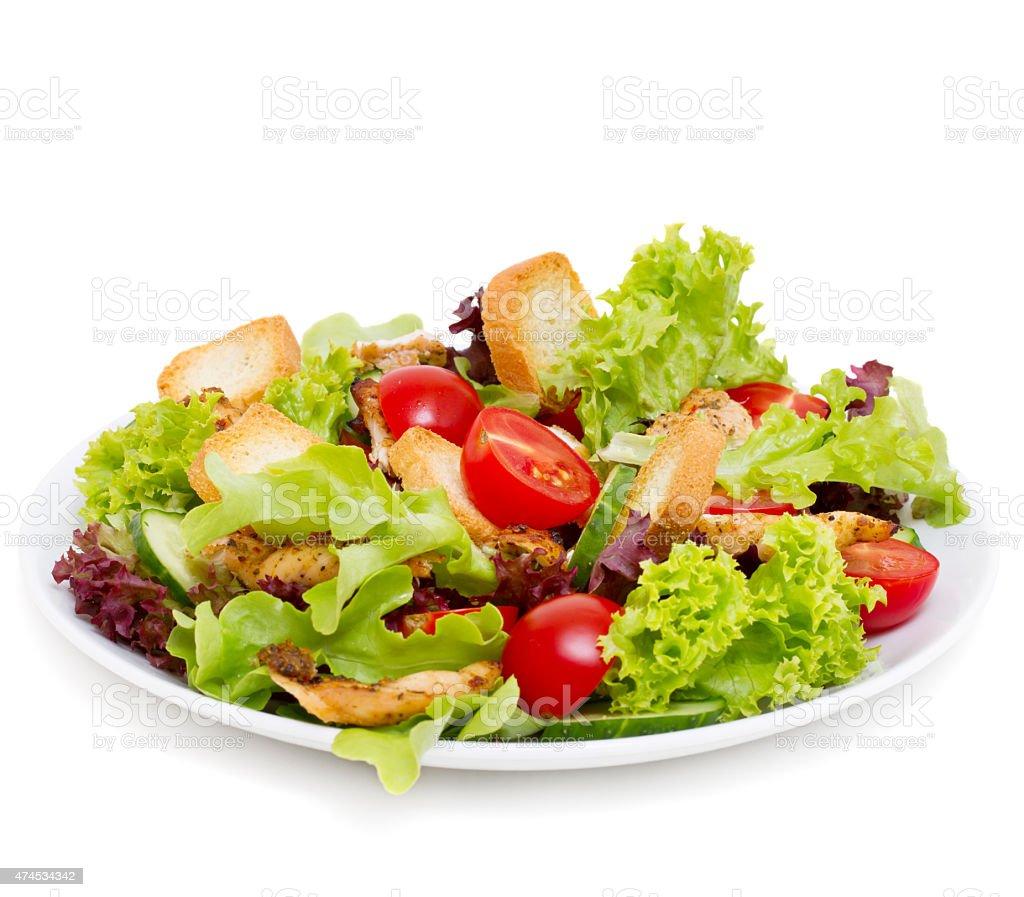 Caesar Salad on white stock photo