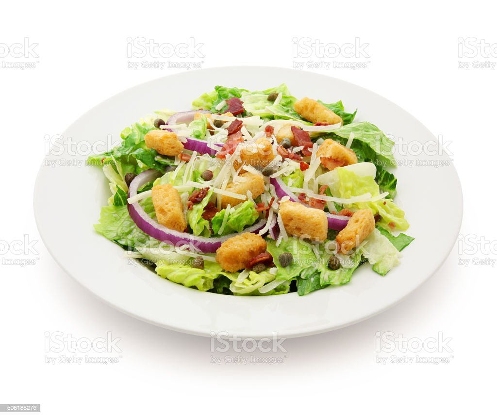 Caesar Salad (with path) stock photo