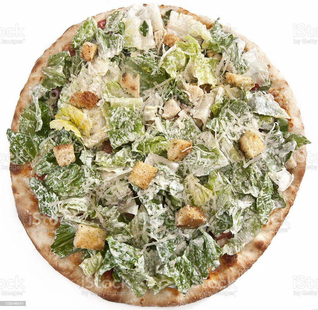 Caesar Salad Pizza stock photo