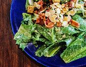 Caesar salad with almond.