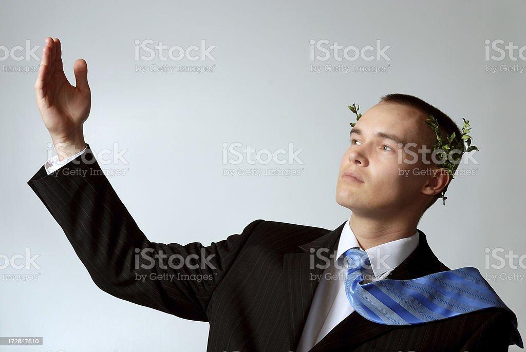 Caesar salute royalty-free stock photo