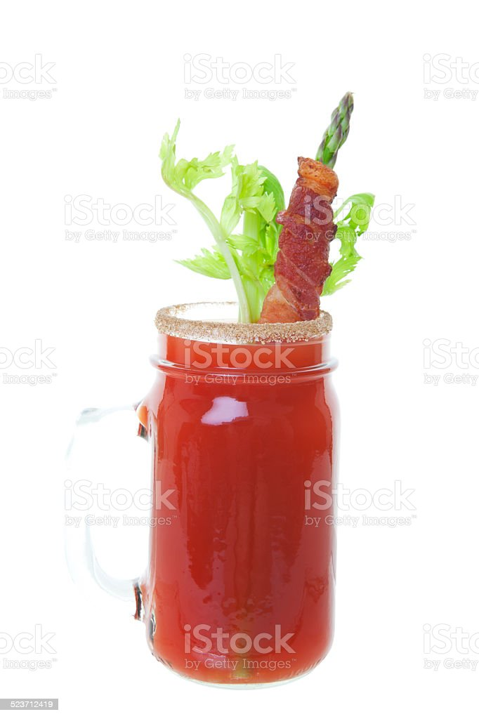 Caesar with Bacon stock photo