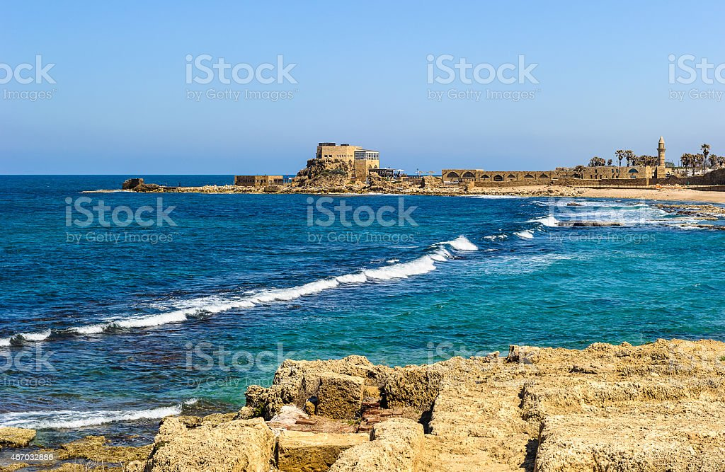 Caesarea Maritima, Israel stock photo