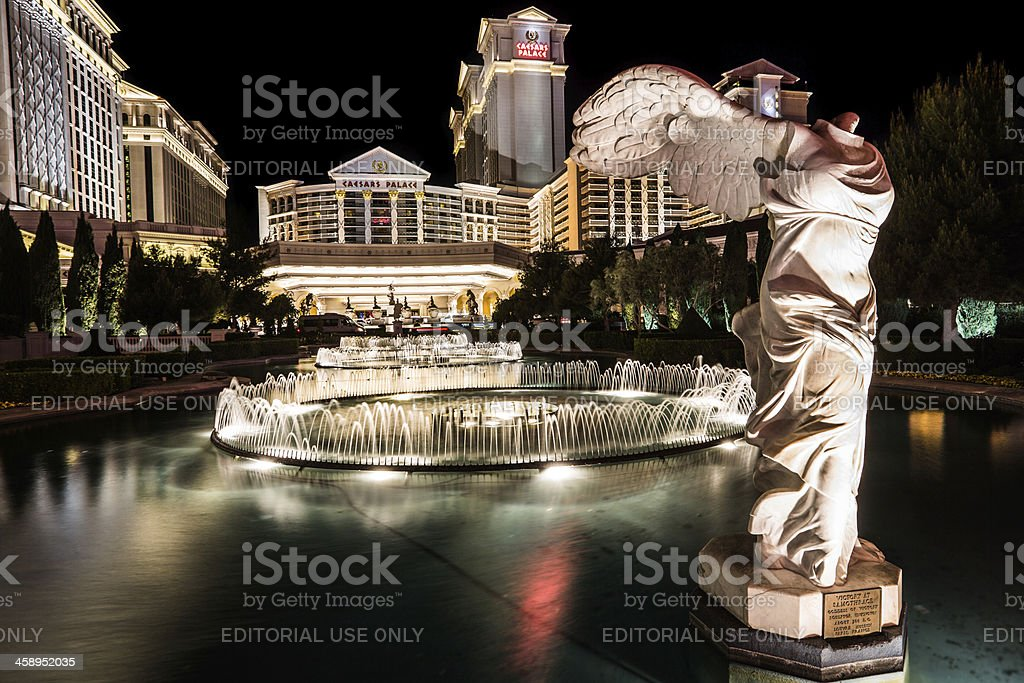 Caesar's Palace fountains stock photo