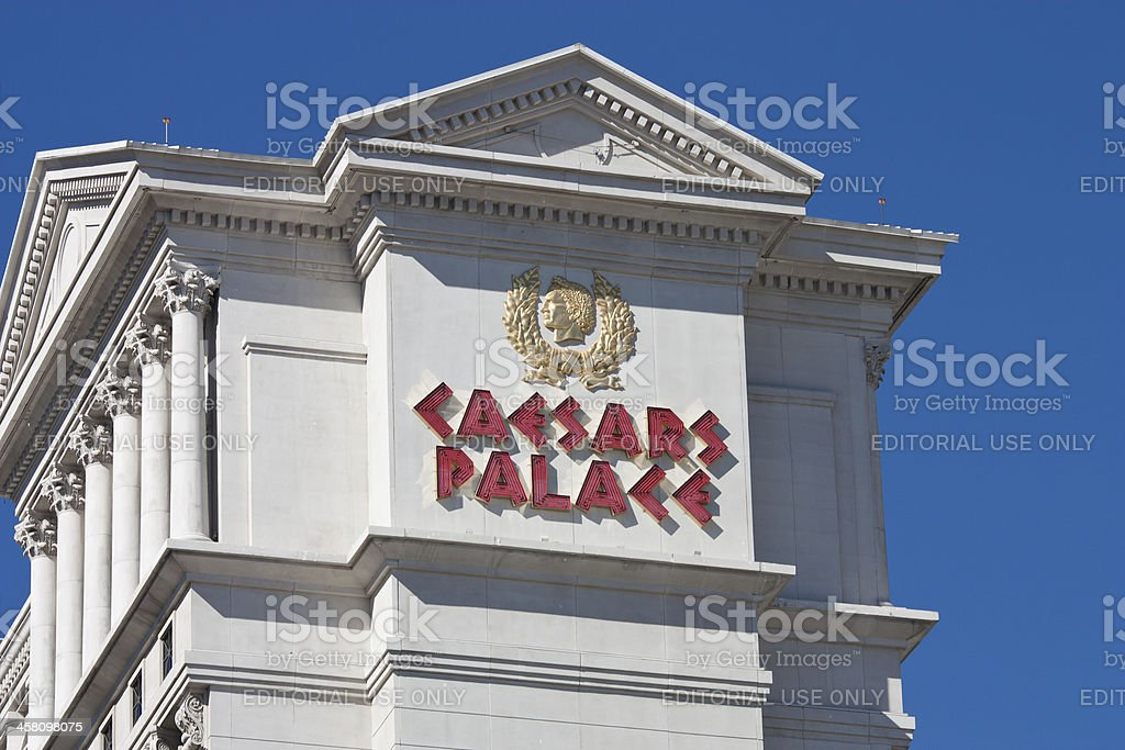 Caesars Palace Las Vegas Sign stock photo