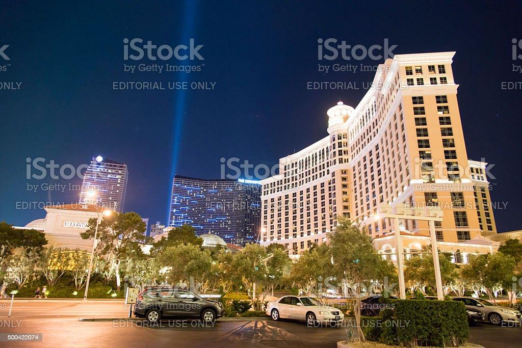 Caesars Palace Las Vegas Strip at night stock photo