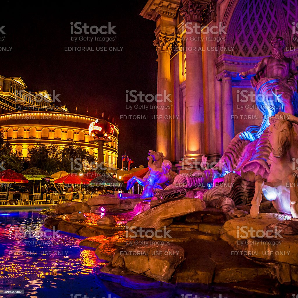 Caesars Palace statues stock photo