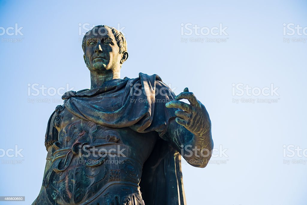 Caesar's statue stock photo