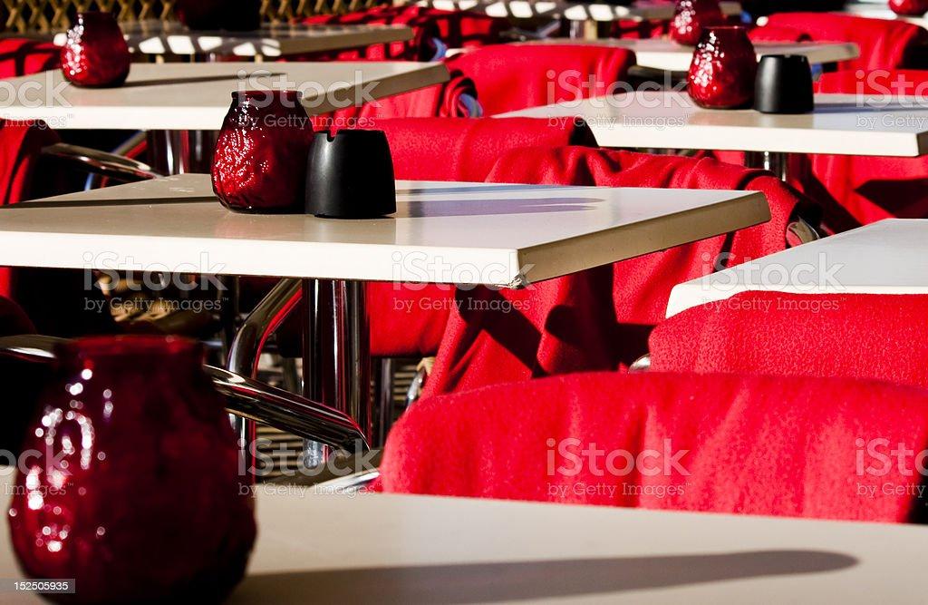 Café tables royalty-free stock photo