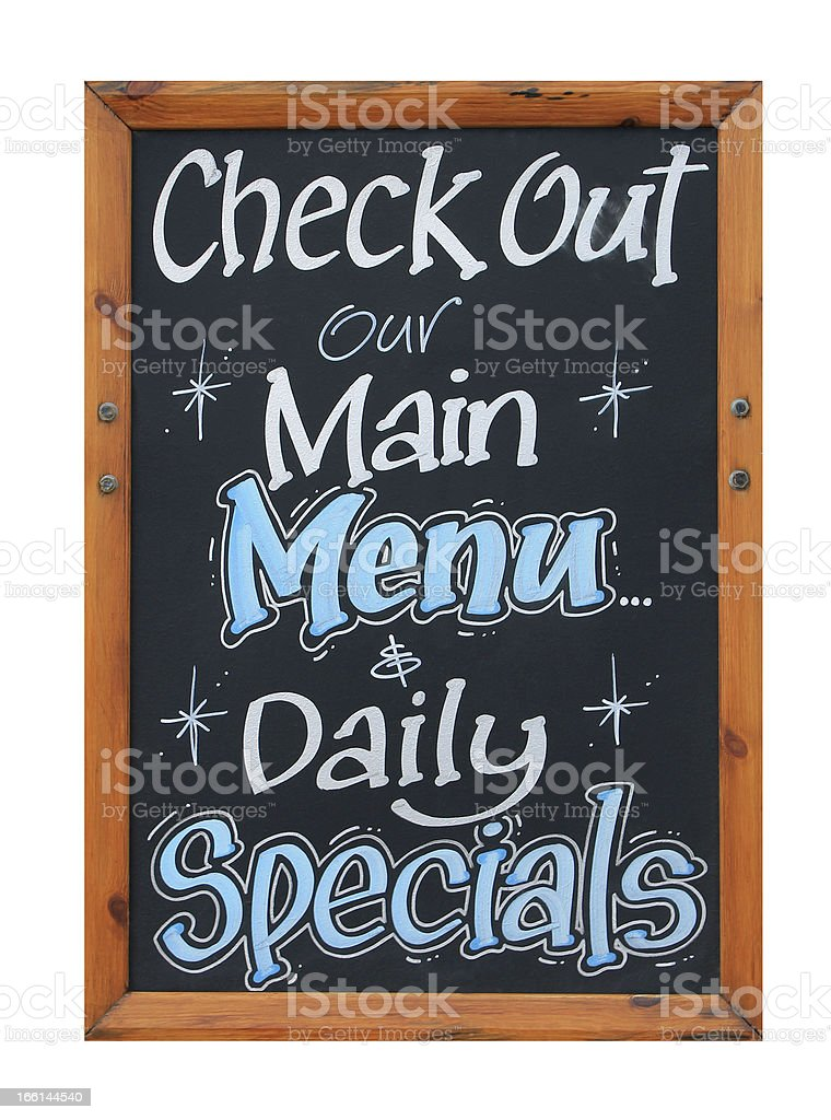 Cafe advertisement sign royalty-free stock photo