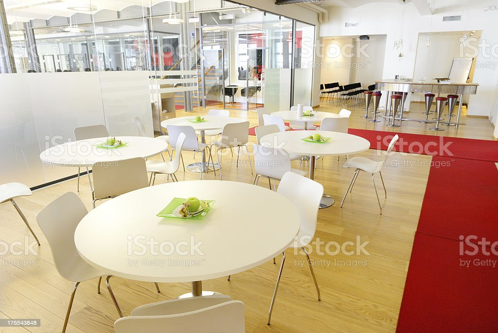 Cafe area in modern brand new open space office royalty-free stock photo