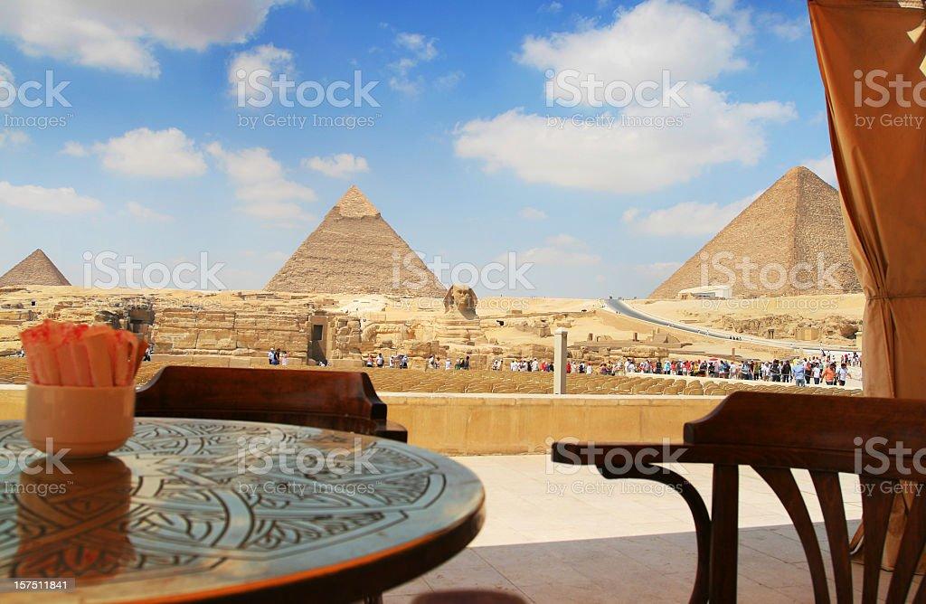 Cafe at Giza royalty-free stock photo