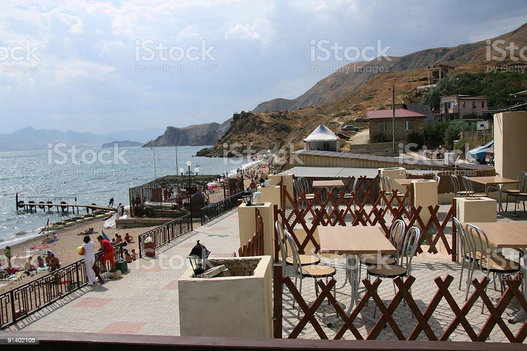 Cafe at  sea royalty-free stock photo
