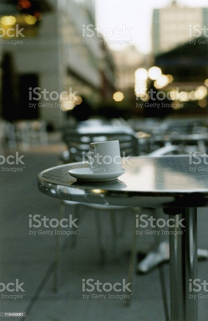 Cafe at Sunset royalty-free stock photo
