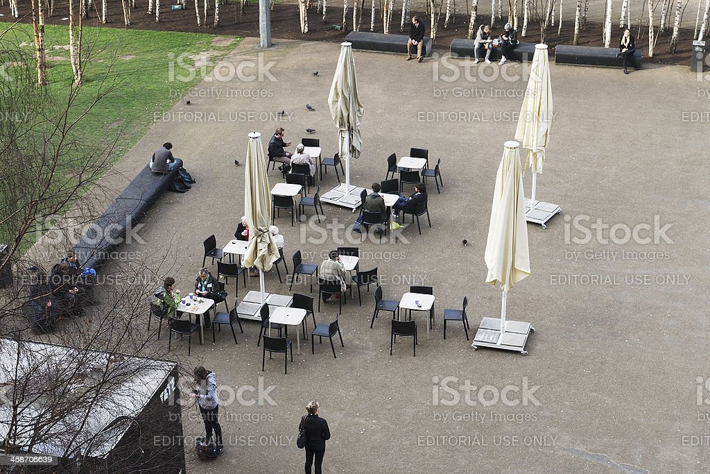 Cafe at Tate Modern Art Gallery. London. England royalty-free stock photo