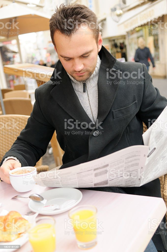 Cafe Breakfast royalty-free stock photo