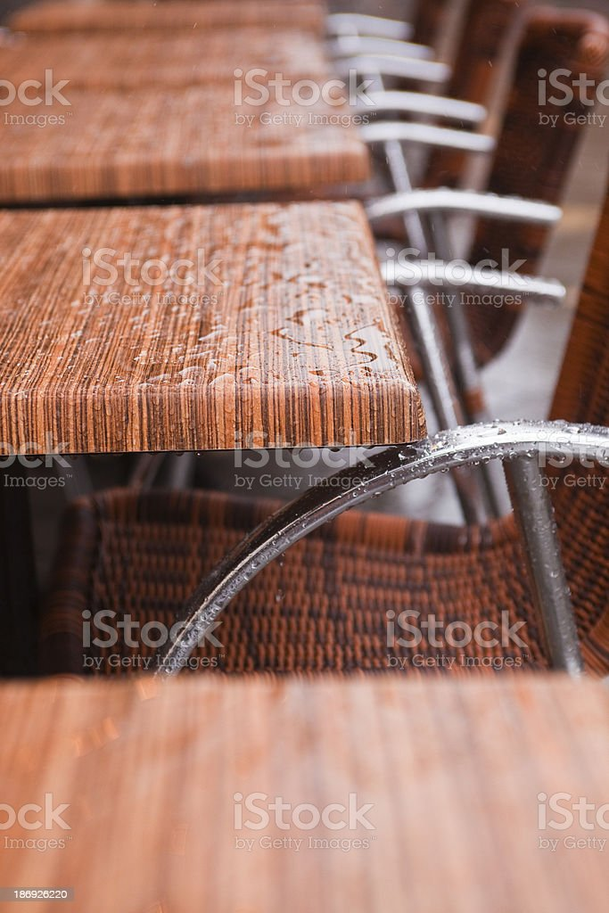 Cafe chairs royalty-free stock photo