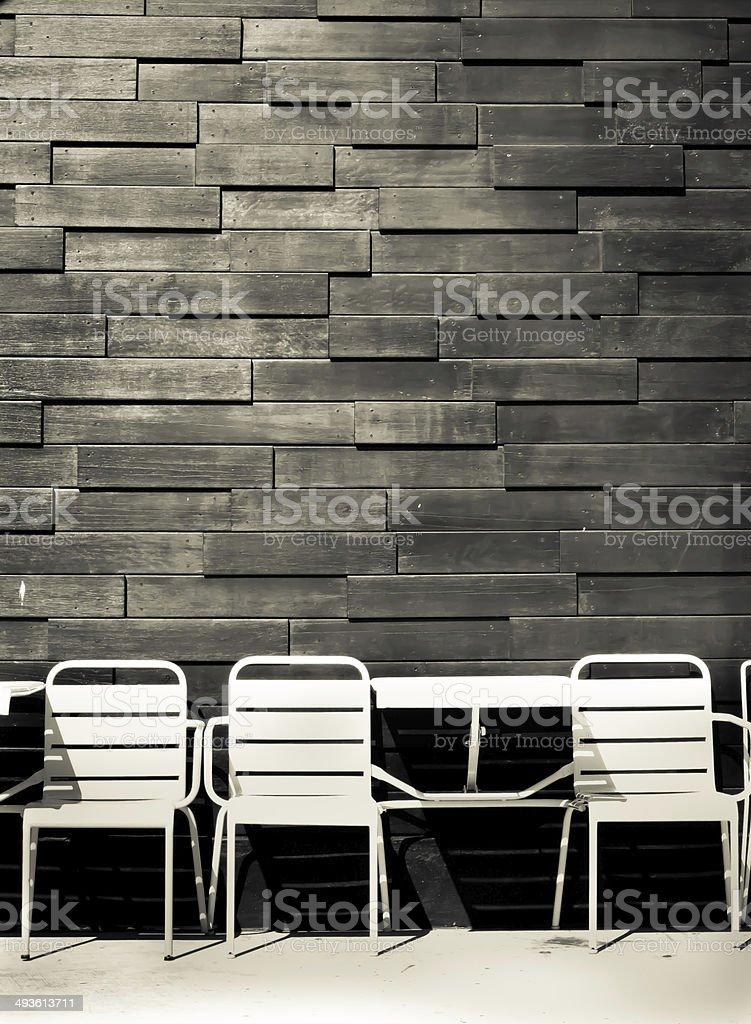 Café de chaises photo libre de droits