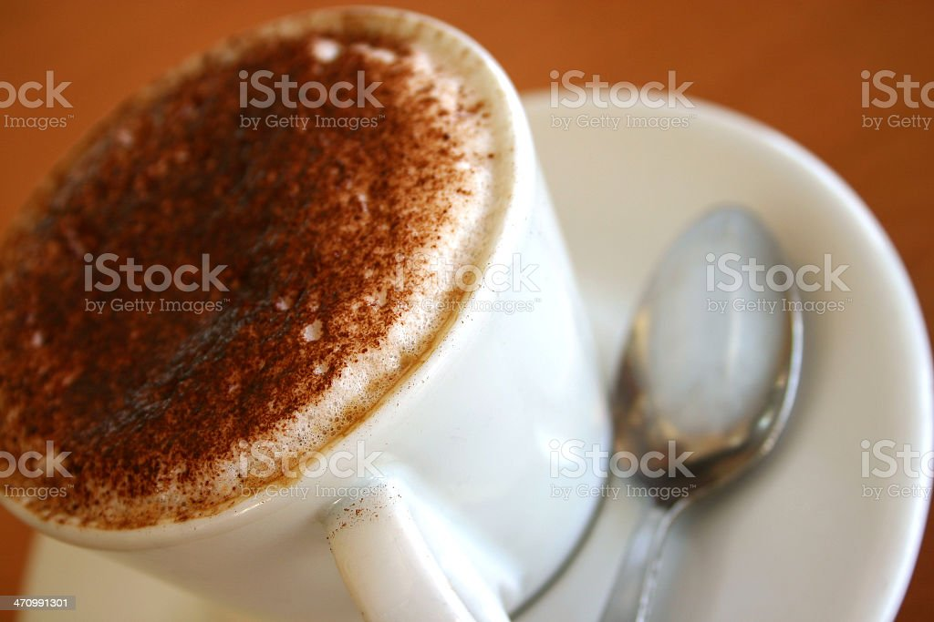 Cafe Coffe with Chocolate royalty-free stock photo