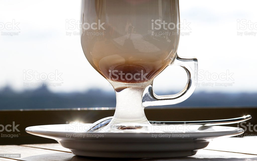 Cafe Coffee Latte in a glass royalty-free stock photo