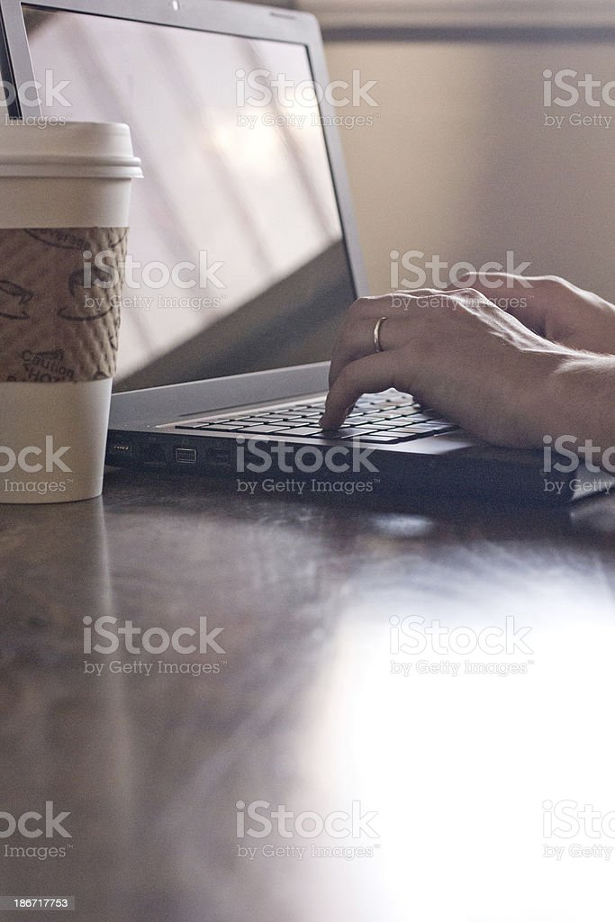 Cafe Computing royalty-free stock photo