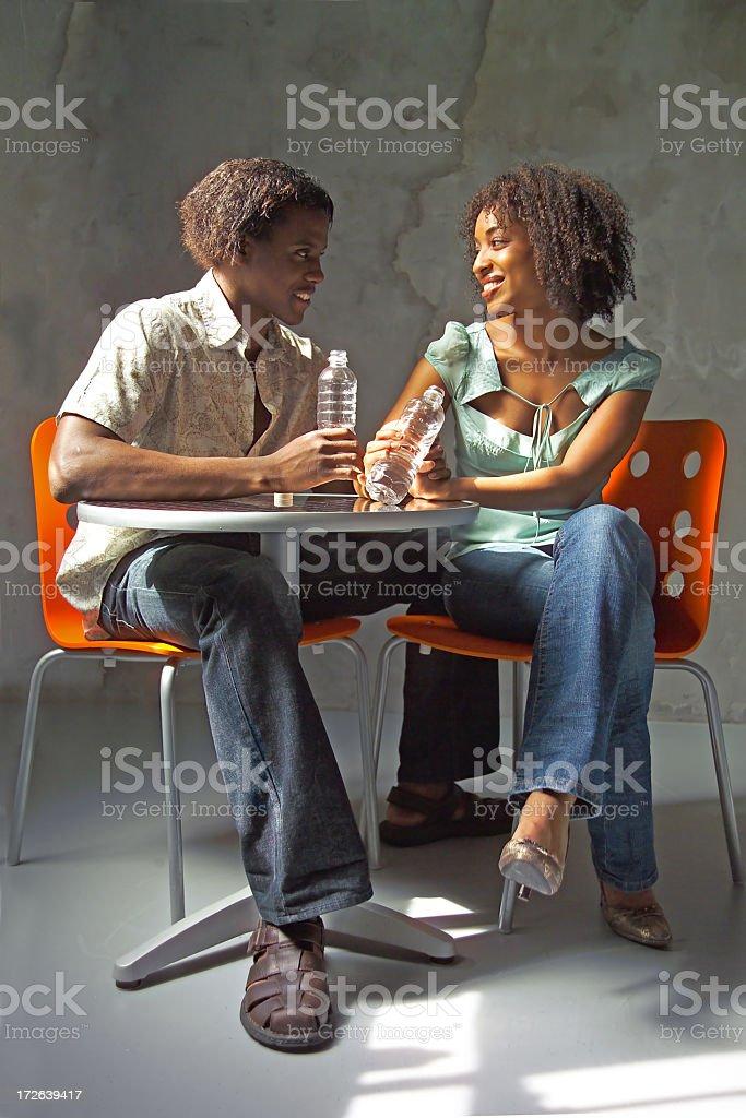 cafe conversation royalty-free stock photo