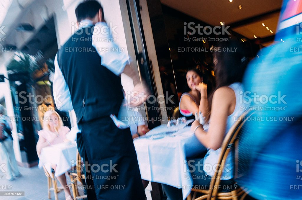 Cafe culture, La Croisette, Cannes, France stock photo