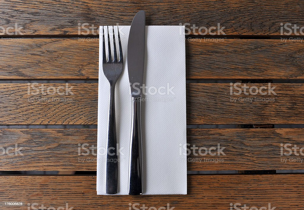 Cafe cutlery royalty-free stock photo