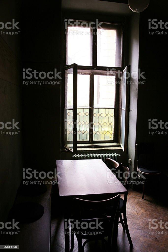 Cafe dark stock photo
