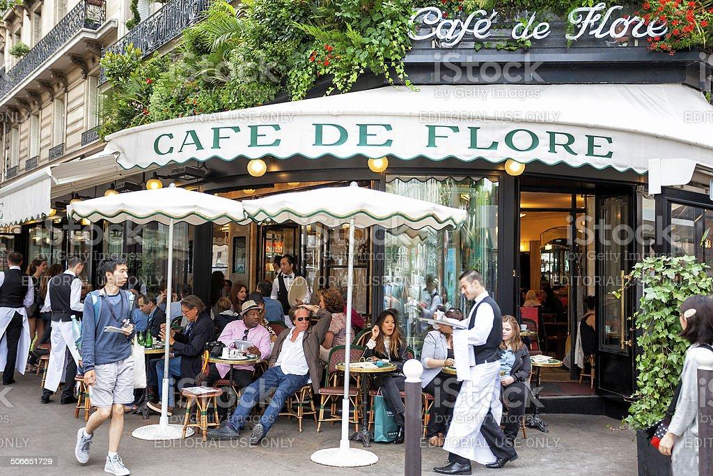 Cafe de Flore in Paris stock photo