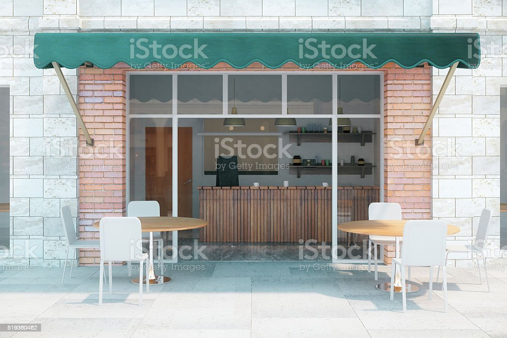 Cafe exterior front stock photo