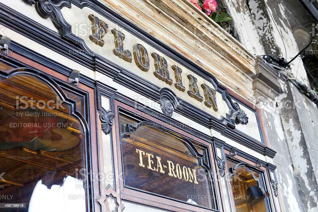 Cafe Florian in Venice stock photo