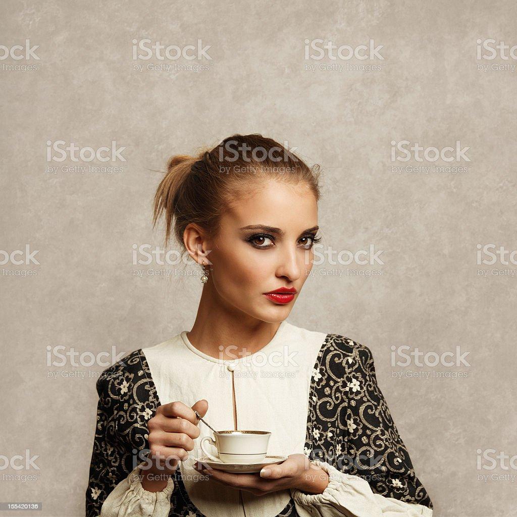 cafe girl royalty-free stock photo