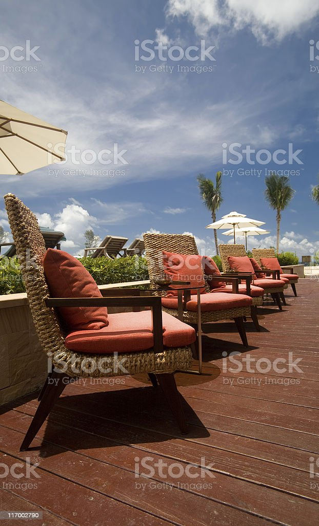Cafe in a resort royalty-free stock photo
