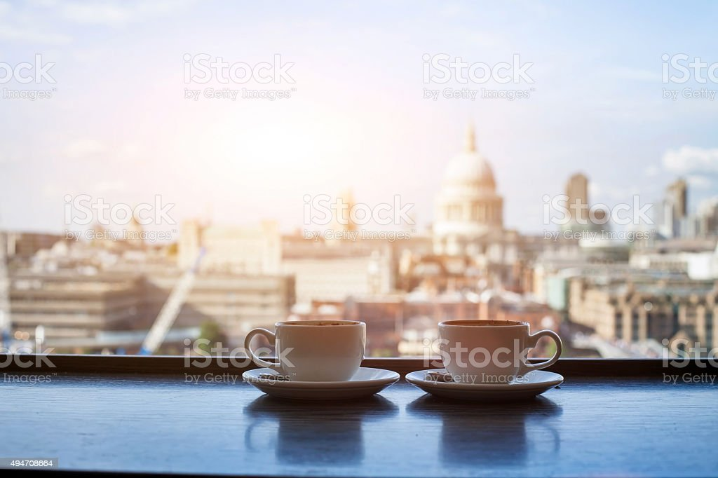 cafe in London stock photo