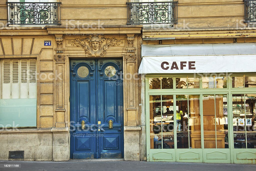 Cafe in Paris stock photo