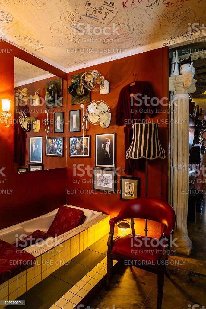 Cafe Interior in Havana stock photo