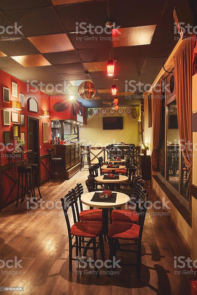 Cafe Interior Retro Design stock photo