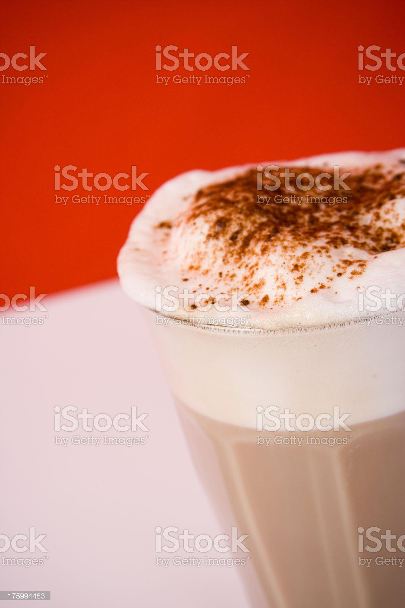 Cafe Latte Closeup royalty-free stock photo