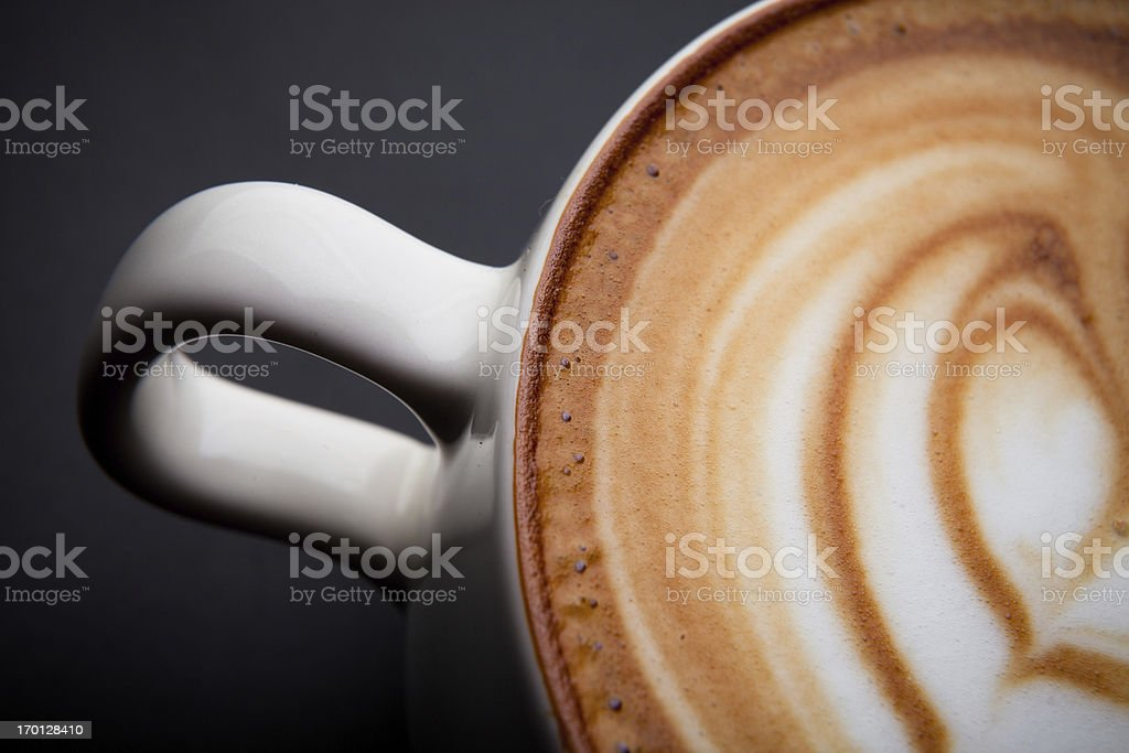 Cafe Latte Foam Art royalty-free stock photo