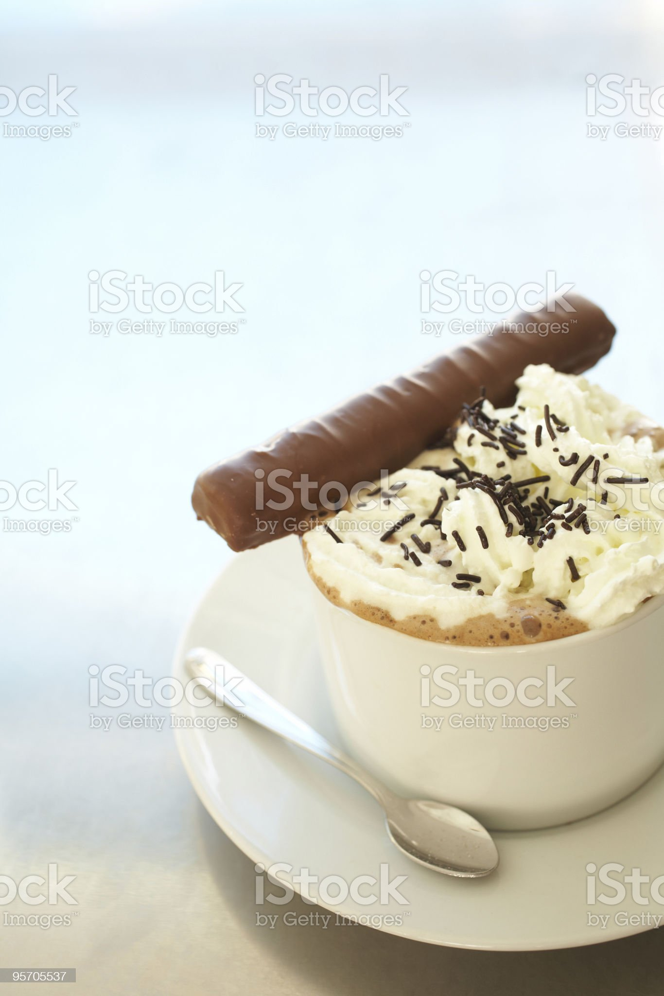 Cafe latte in coffee cup royalty-free stock photo