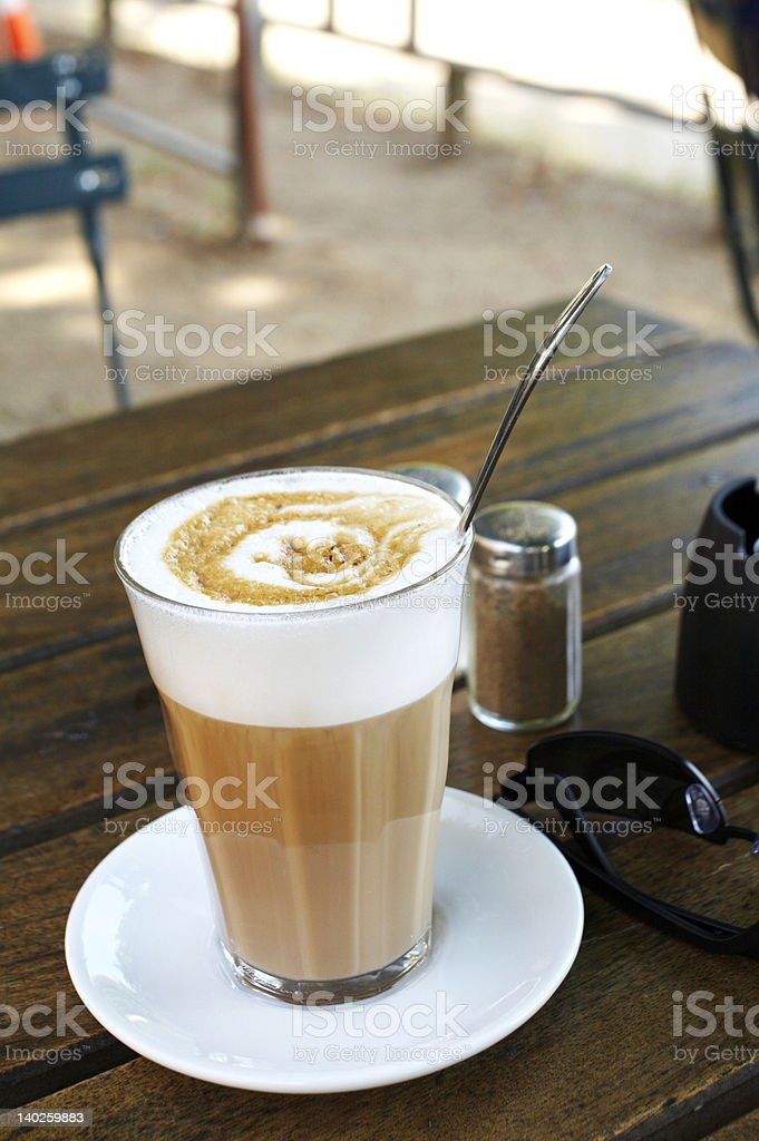 Cafe latte in Copenhagen royalty-free stock photo