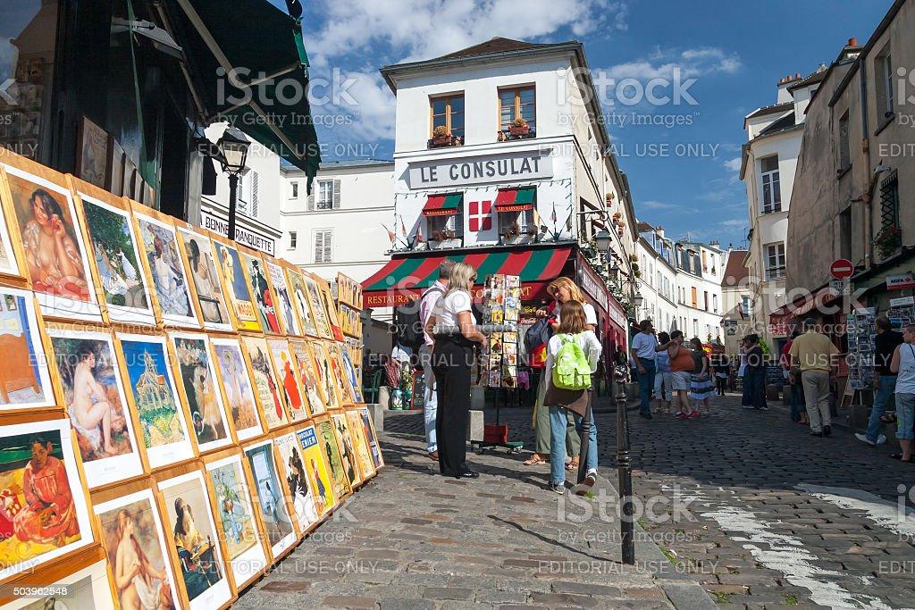 Cafe Le Consulat in Monmartre, Paris, France stock photo