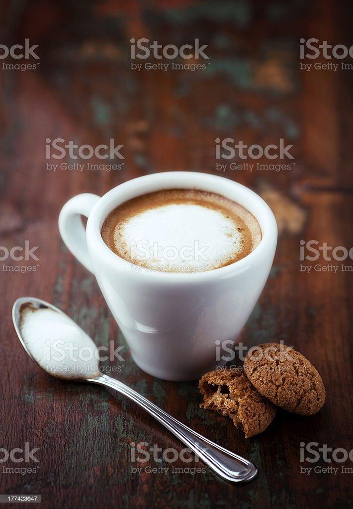 Cafe Macchiato (espresso with a little milk) stock photo